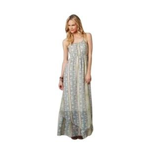 American Eagle Floral Ae Chiffon Casual Maxi Dress